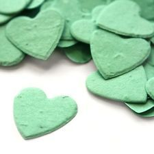 Aqua Heart Shaped Plantable Wildflower Seed Recycled Paper Confetti