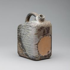 Gas Can by Darren Cockrell / Spun Smoke Ceramics / Anagama Wood-Fired Porcelain