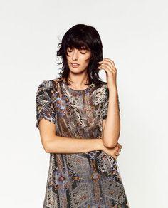 VELVET PRINT DRESS-NEW IN-WOMAN | ZARA Ukraine