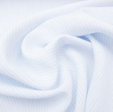 A premium quality soft baby blue and white striped superfine pure linen. This hard wearing, yet breathable luxury woven fabric is ideal for practical tailoring, such as shirts. New in and available in a variety of colours and patterns. Shirting Fabric, Woven Fabric, Baby Design, Baby Blue, Blue And White, Colours, Pure Products, Fabrics, Tejidos
