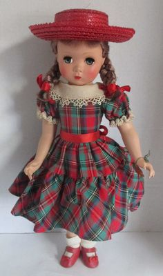 """17"""" Polly Pigtails Madame Alexander Doll Maggie face Hard Plastic w/ Wrist Tag 