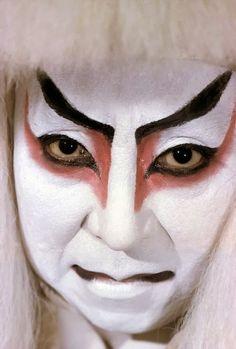 Kabuki performer. 1961, Japan