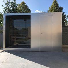 Afwerking in inox look aluminium, infraroodsauna voor buiten Outdoor Sauna, Outdoor Decor, Modern Saunas, Sauna Shower, Sauna Design, Infrared Sauna, Pool Houses, Jacuzzi, Sauna Ideas