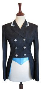 Show Jacket - Short Dressage Jacket - Juuls Jackets - Pearls on collar - Riding wear - Equestrian - Clothes