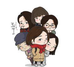 #goblin #kdrama #korean #korea #koreandrama #grimreaper #euntak #gongyoo #cute #animated #chibi #fanart #sunny #ghosts #friends