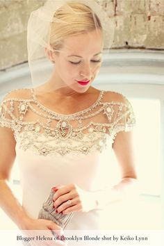 Harlow Gown from BHLDN I think jeweled bodice top is so spectacular that I'm pinning it to jewelry board