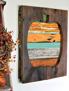 Diy pumpkin pallet wat art
