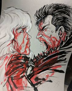 """2,079 Likes, 28 Comments - Vince Sunico (@vinsun316) on Instagram: """"MY TAKE of Guts vs Griffith - ive seen a bunch of fan art of these guys together, don't see images…"""""""