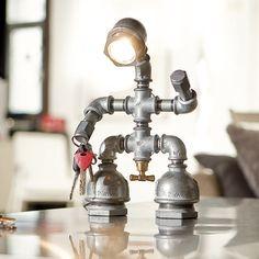 Kozo Man iron pipe desk lamp by Kozo Lamp handmade industrial chic lighting design