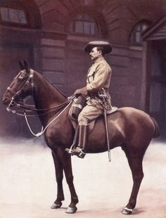 A sergeant major of the Imperial Light Horse regiment during the second Boer War, from 'South Africa and the Transvaal War', by Louis Creswicke, published 1900 (colour litho).