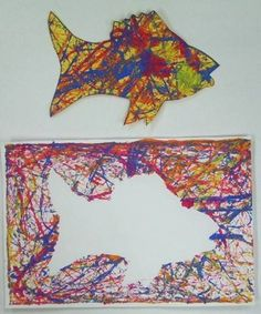"""From exhibit """"Marble Paintings-Positive and Negative Space Designs"""""""