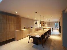 Strakke tijdloze design eiken keuken  My Dream house/ Landelijk wonen ...