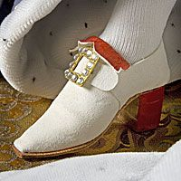 Louis XIV (robes of state) ahhh the original shoe fetish man who started it all ladies....