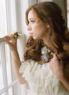 """Floral ring and necklace! Via @Wedding Sparrow - wedding blog post on """"How to use florals on your wedding day"""""""