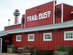 "Not only does Trail Dust Steak House have great steaks, they are also known for their live music, a boot-scootin' dance floor, and a two story slide for kids of all ages. Make sure you are aware of the ""No ties after 5"" rule. You can take off your tie, or the staff will cut it off for you! Trail Dust is one of a kind and always a great time."