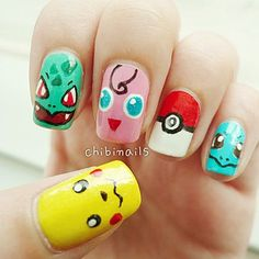 32 Best Pokémon GO Inspired Nails - Gotta Catch 'Em All! We found the VERY BEST Pokémon Nails in light of the Pokémon GO Craze! Pika Pika