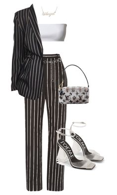 """""""Untitled #121"""" by shariirose ❤ liked on Polyvore featuring Balenciaga, M&Co, Louis Vuitton and Loewe"""