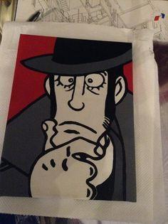 ZENIGATA serie Lupin, misura cm. 18x24, creo su commissione, tutto dipinto a mano, firmato e numerato sul retro visita la mia pagina: www.facebook.com/HoneyEli75