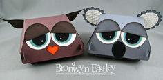 Hamburger Box Critters - Owl and Koala