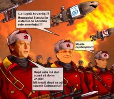 Victor Ponta and Crin Antonescu, the Red Army