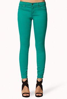 Zippered Skinny Jeans | FOREVER21 - 2073849500