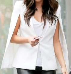 In love with that white cape blazer!