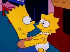 Young Bart and Baby Lisa