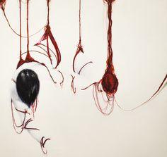 """Angela Viola, """"Matasse"""", tecnica mista su tela, 2011. Mostra MA(ta)SSE, Oldoni Grafica Editoriale, Milano, 2013, a cura di Annalisa Bergo. Ph. Dario Rota."""