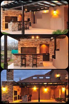 backyard design – Gardening Tips Roof Design, Deck Design, House Design, Parrilla Exterior, Rooftop Terrace Design, Small Patio Design, Garden Deco, Patio Roof, Home Decor Furniture