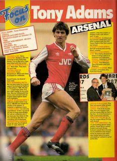 Retro Football, Vintage Football, Football Shirts, Football Players, Arsenal Players, Arsenal Fc, Tony Adams, English Football League, Sir Alex Ferguson
