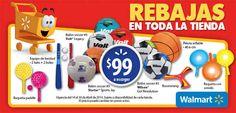 Rebajas Walmart validas al 30 de abril   Las Rebajas Walmart tienen todo para que tus hijos jueguen y disfruten en estas vacaciones. Por ejemplo:> Raqueta con sonido A SÓLO $ 99 > Raqueta paddle A SÓLO $ 99 > Boomerang A SÓLO $ 99 > Pelota inflable (40.6 cm) A SÓLO $ 99 > Equipo de... -> http://www.cuponofertas.com.mx/oferta/rebajas-walmart-validas-al-30-de-abril/