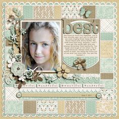 "1. Kit: ""Beautiful"" by Jady Day Studio  2. Template: ""Pieces Of My Heart Set #2"" by Kay Miller Designs"