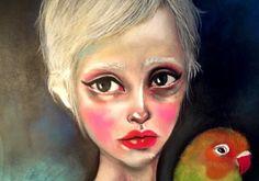 Pastel drawings by Parvin Jahanshad