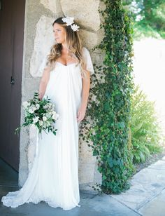 Alexander McQueen Dress with custom made cape - this bride is super handy. wayfarers chapel bride