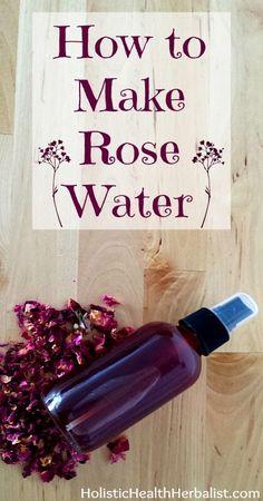 How to Make Rose Water - Holistic Health Herbalist How to Make Rose Water - quick and easy from dried rose petals Beauty Care, Diy Beauty, Beauty Skin, Beauty Tricks, Parfum Bio, Diy Cosmetic, How To Make Rose, Beauty Hacks For Teens, Dried Rose Petals