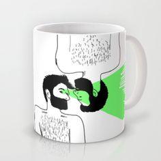 """""""I know who you are"""" Mug. Gay illustration design for mug. Taza"""