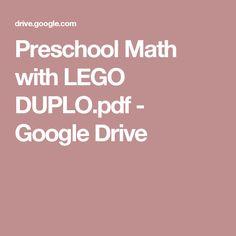 Preschool Math with LEGO DUPLO.pdf - Google Drive