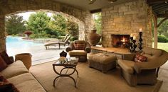 Rustic Outdoor Living Room