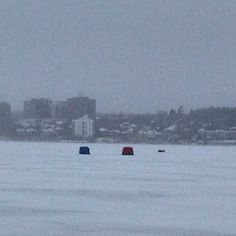 Cold inspection on Lake Simcoe but the Ice Fishing continues