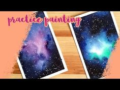 Painting Practice - More Galaxies! - YouTube