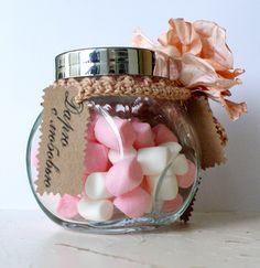 Новогодние подарки своими руками, конфеты, стеклянная банка, подарок, сладости, скрап, винтаж, цветы, тесьма