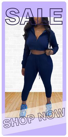 Two Piece Outfits Pants, Pants Outfit, Blue Fashion, Two Pieces, Zipper, Long Sleeve, Casual, Sleeves, Dresses