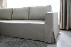 Custom IKEA Manstad Sofa Bed Cover (Loose Fit Style) in Liege Eggshell Linen…
