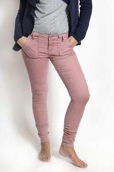 THE DUSTY ROSE SKINNY PANTS - Vanilla Star Jeans
