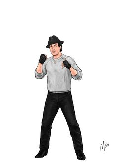 Rocky Series Characters illustrated by MGO 08 Rocky Balboa Movie, Rocky Film, Sylvester Stallone, Rocky Series, Stallone Rocky, Apollo Creed, Karate Kid, The Expendables, Movie Poster Art