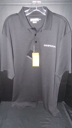 NEW-NWT-Imperva-Black-Golf-Polo-EV-Run-Eversole-Run-Large-Pima-Cotton