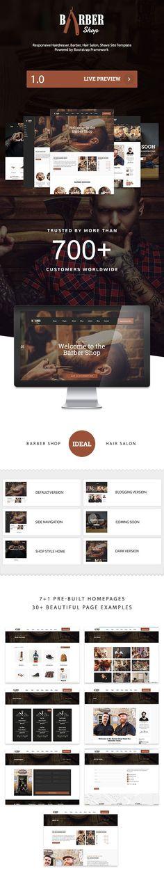 Landing Page for Barber Shop on Behance | Landing page | Pinterest ...