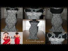 """Como confeccionar el vestido sirena """"Peticion"""" - YouTube"""
