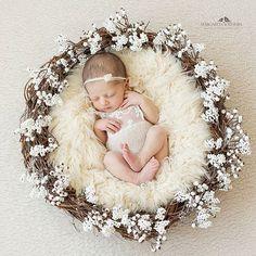 На улице опять зима - красота ❄☺❄ // Маша, 12 дней #kashuba_newbornphotographer #kashuba_flowers #littledreamsprops