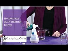 Let's Get Organized: Week 22A - Batting Scraps - TheQuiltShow.com Homemade quilt basting spray